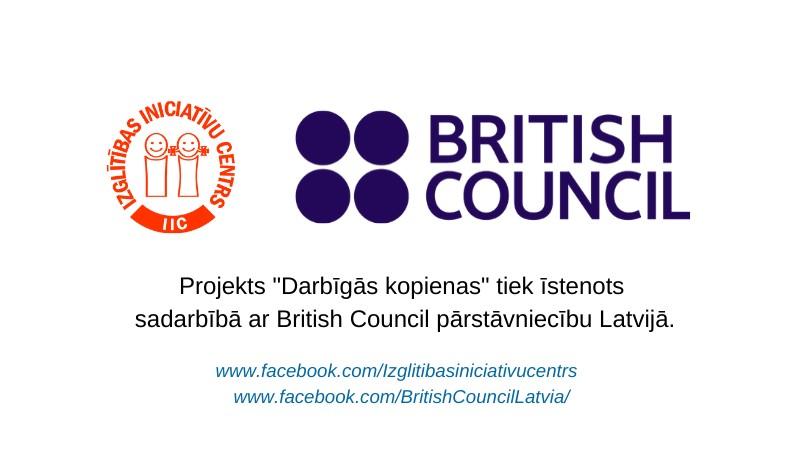 """Mūsu iestādes īstenotās aktivitātes  projektā """"DARBĪGĀS KOPIENAS""""."""